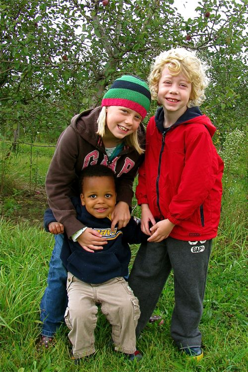 Kids at Apple Orchard